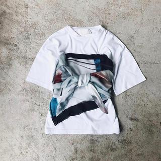 アメリヴィンテージ(Ameri VINTAGE)の【mercimerci様専用】♡MEDI DRAWING UNEVEN TEE(Tシャツ(半袖/袖なし))
