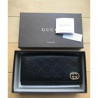 Gucci - GUCCIの シマレザー 長財布