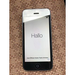 アップル(Apple)のiPhone 5 本体 Black 16 GB (スマートフォン本体)
