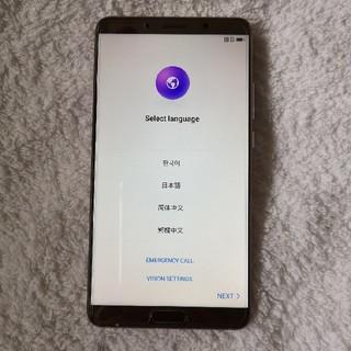 Huawei mate10 ブラウン 新品同様品ですALP-L29 SIMフリー(スマートフォン本体)