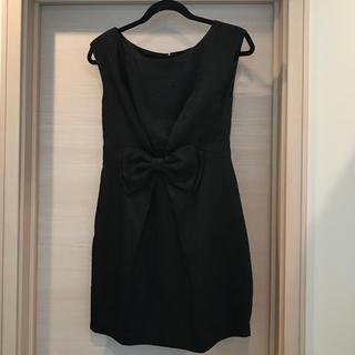 ミニマム(MINIMUM)のMINIMUM  ブラックドレス(ミニワンピース)