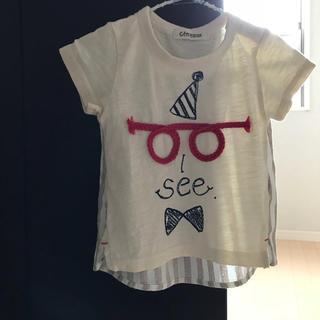 ジェモー(Gemeaux)のジェモー 半袖 Tシャツ 異素材切り替え 男の子 女の子(Tシャツ/カットソー)