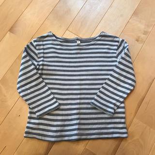 ムジルシリョウヒン(MUJI (無印良品))の無印  ボーダーカットソー  100(Tシャツ/カットソー)