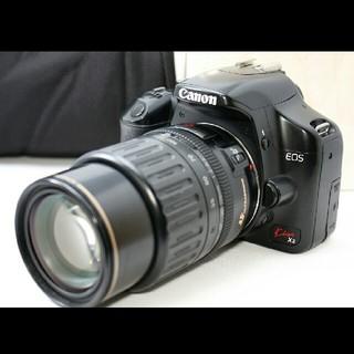 キヤノン(Canon)の大人気のエントリー機でスマホに転送♪キャノン Kiss X2 レンズセット♪(デジタル一眼)