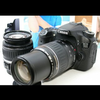 キヤノン(Canon)のYoutuberも使ってる♪Canon キャノン 70D ダブルレンズセット♪(デジタル一眼)