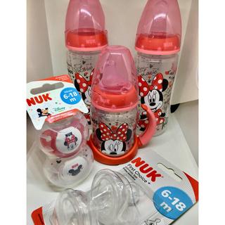 ディズニー(Disney)のちゃち様専用 計2点 nuk ミニー 6-18ヶ月用 哺乳瓶 スパウト  セット(哺乳ビン)