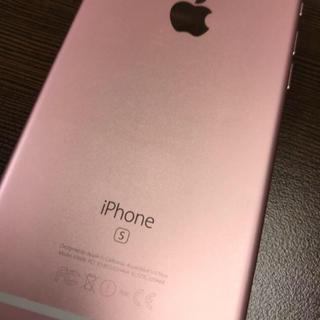 アップル(Apple)の超美品 iphone 6s 16gb ローズゴールド(スマートフォン本体)