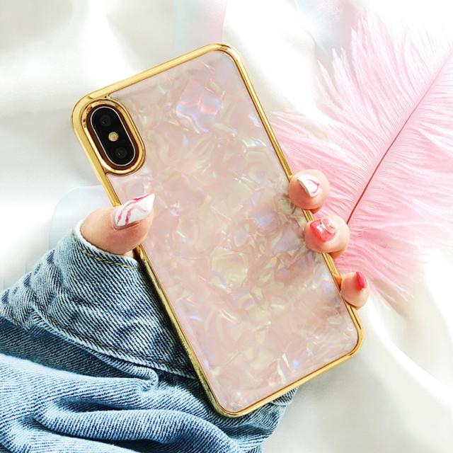 d25ba60fdd セレブリティ☆シェル柄iPhoneケース スマホケース スマホ/家電/カメラのスマホアクセサリー(
