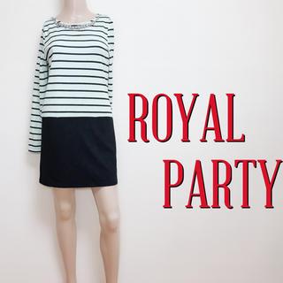 ROYAL PARTY - もて服♪ロイヤルパーティー ミックスビジューワンピース♡エモダ ジルスチュアート