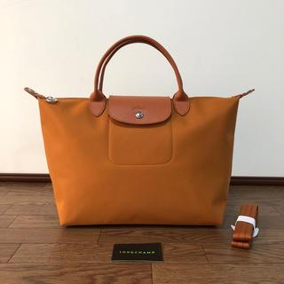 ロンシャン(LONGCHAMP)のLONGCHAMP ル・プリアージュ ネオトートバッグ(ショルダー付)オレンジM(トートバッグ)