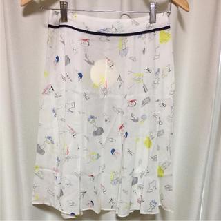 アミウ(AMIW)のイラストスカート(ひざ丈スカート)