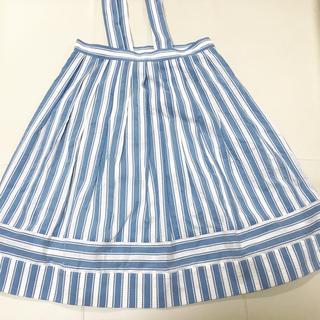 ジェーンマープル(JaneMarple)のピコットストライプスカート(ひざ丈スカート)