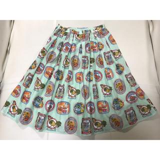 ジェーンマープル(JaneMarple)のシトラスフルーツラベルスカート(ひざ丈スカート)