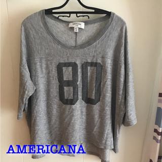 アメリカーナ(AMERICANA)のAMERICANA ロゴT(Tシャツ(長袖/七分))