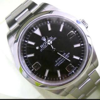 ロレックス(ROLEX)のロレックス エクスプローラ1 214270 ランダム番 OH期間内(腕時計(アナログ))