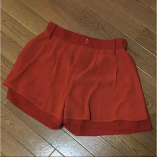 レイカズン(RayCassin)のキュロットスカート RAY CASSIN テラコッタオレンジ(キュロット)