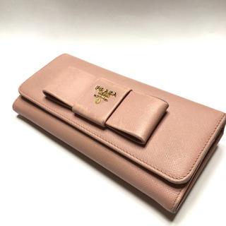 プラダ(PRADA)の◆◇PRADA プラダ/ リボン 長財布 ピンク(財布)