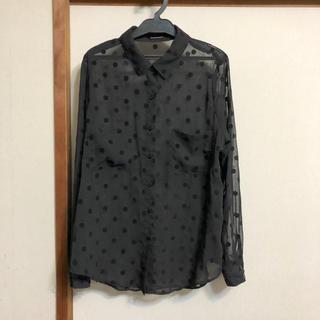 アメリカンアパレル(American Apparel)のAmerican  apparel/アメアパ ドットブラウス(シャツ/ブラウス(長袖/七分))
