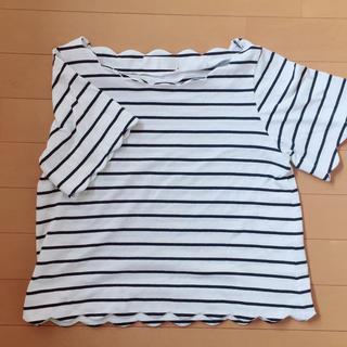 アーベーセーアンフェイス(abc une face)のボーダーTシャツ abc une face(Tシャツ(半袖/袖なし))