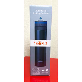 サーモス(THERMOS)のサーモス  水筒 紺色(弁当用品)