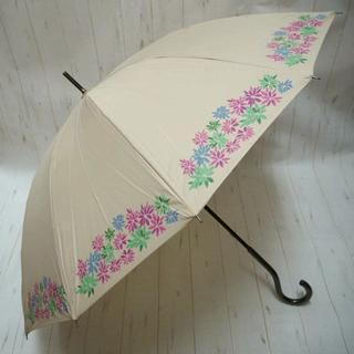 シビラ(Sybilla)のSybilla シビラ 12本骨 長傘 雨傘☆花柄 ベージュ(傘)