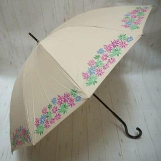 シビラ(Sybilla)のSybilla シビラ 12本骨 長傘 雨傘☆花柄 ベージュ ①(傘)