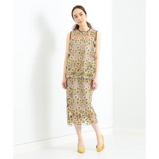 デミルクスビームス(Demi-Luxe BEAMS)のDemi-Luxe BEAMS / チュール刺繍 セットアップ(ひざ丈スカート)