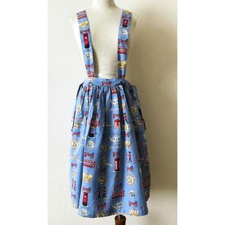 ジェーンマープル(JaneMarple)のロンドンプリント スカート(ひざ丈スカート)