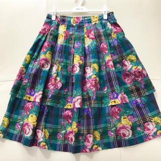 ジェーンマープル(JaneMarple)のローズマドラススカート(ひざ丈スカート)