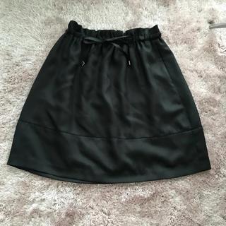 ロペ(ROPE)のロペ  黒  フレア(ひざ丈スカート)