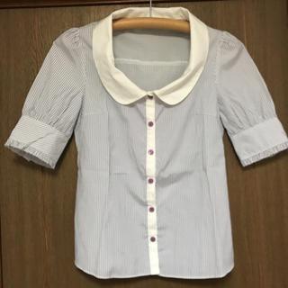 ミニマム(MINIMUM)のミニマム ストライプシャツブラウス(シャツ/ブラウス(半袖/袖なし))