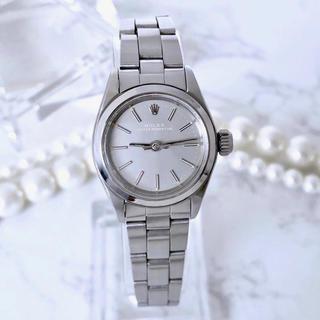 ロレックス(ROLEX)の美品 ロレックス オイスター レディース グレー文字盤 腕時計(腕時計)