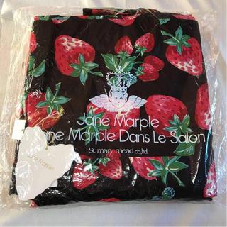ジェーンマープル(JaneMarple)のレア!新品 ジェーンマープル 苺柄 浴衣 帯 セット 黒 赤 いちご(浴衣)