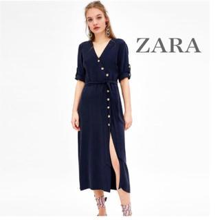 ZARA - タグ付き新品未使用! ZARA ボタン付きワンピース