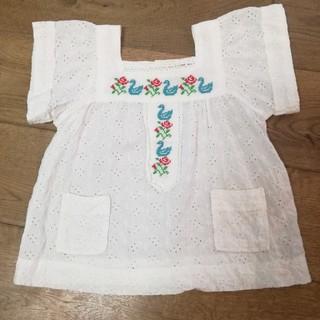 セラフ(Seraph)のセラフ 110サイズ 刺繍 ホワイトトップス (Tシャツ/カットソー)