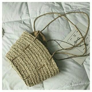 メゾンドリーファー(Maison de Reefur)の新品巾着付きかごショルダーバッグ 梨花 LIHUA(かごバッグ/ストローバッグ)