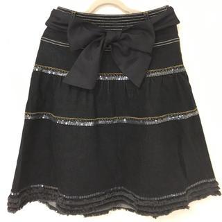 トゥービーシック(TO BE CHIC)のTO BE CHIC デニム地スカート サイズ36(ひざ丈スカート)