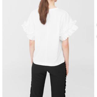 マンゴ(MANGO)のMANGO フリルTシャツ(Tシャツ(半袖/袖なし))
