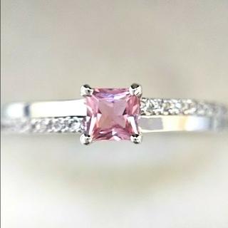 たま様専用  ピンクサファイア K18WG  0.1ctダイヤモンド K18(リング(指輪))