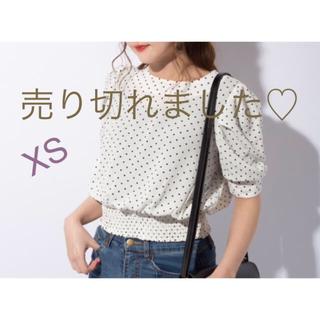 ジーユー(GU)のGU ドットプリントブラウス 完売品(シャツ/ブラウス(半袖/袖なし))