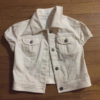 フェルゥ(Feroux)のお値下げ 定価 7980→2980 Feroux ホワイトジャケット(Gジャン/デニムジャケット)
