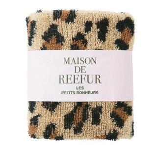 メゾンドリーファー(Maison de Reefur)の【新品】MAISON DE REEFURレオパード パイル タオル(ハンカチ)