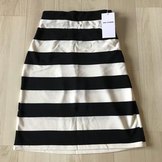 レイカズン(RayCassin)の新品 Ray cassin リップルボーダースカート(ミニスカート)