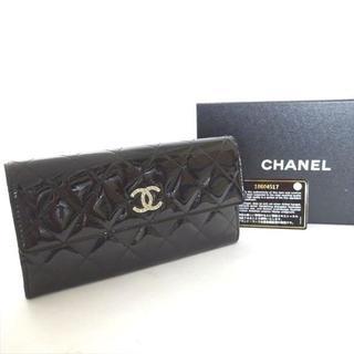 シャネル(CHANEL)のシャネル 長財布 財布 二つ折り エナメルレザー (財布)