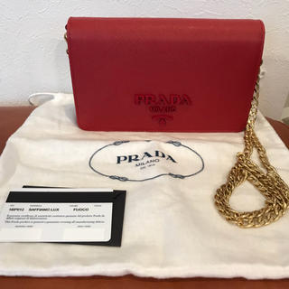 プラダ(PRADA)のプラダ☆サフィアーノチェーンウォレット☆(財布)