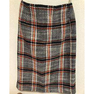 ナチュラルビューティーベーシック(NATURAL BEAUTY BASIC)のチェック柄 タイトスカート(ひざ丈スカート)