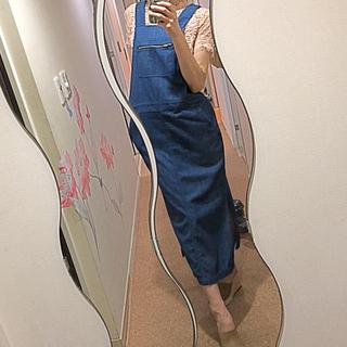 ザラ(ZARA)のZARA女っぽ オーバーオールデニムスカート(サロペット/オーバーオール)