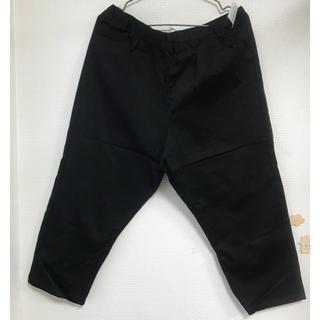 アズノゥアズオオラカ(AS KNOW AS olaca)の新品タグ付き 19号 黒 パンツ アズノウアズ オオラカ(クロップドパンツ)