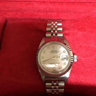 ロレックス(ROLEX)のロレックスレディースディトピンクシェル時計値下げは致しません(腕時計)