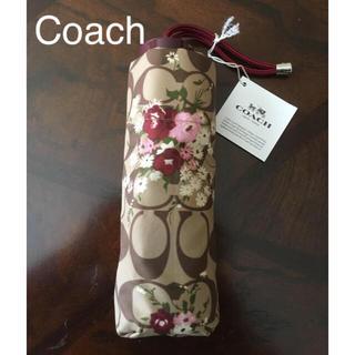 コーチ(COACH)の★新品★コーチ Coach シグネチャー フラワー ミニ傘 32(傘)